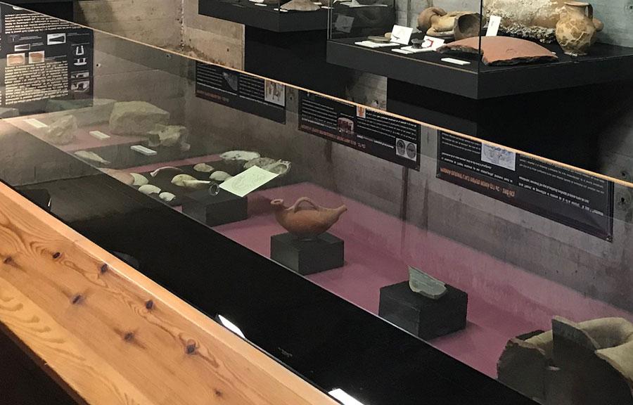 Sala arqueologia Museu Estampació Premià de Mar